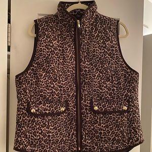 J Crew Leopard Vest
